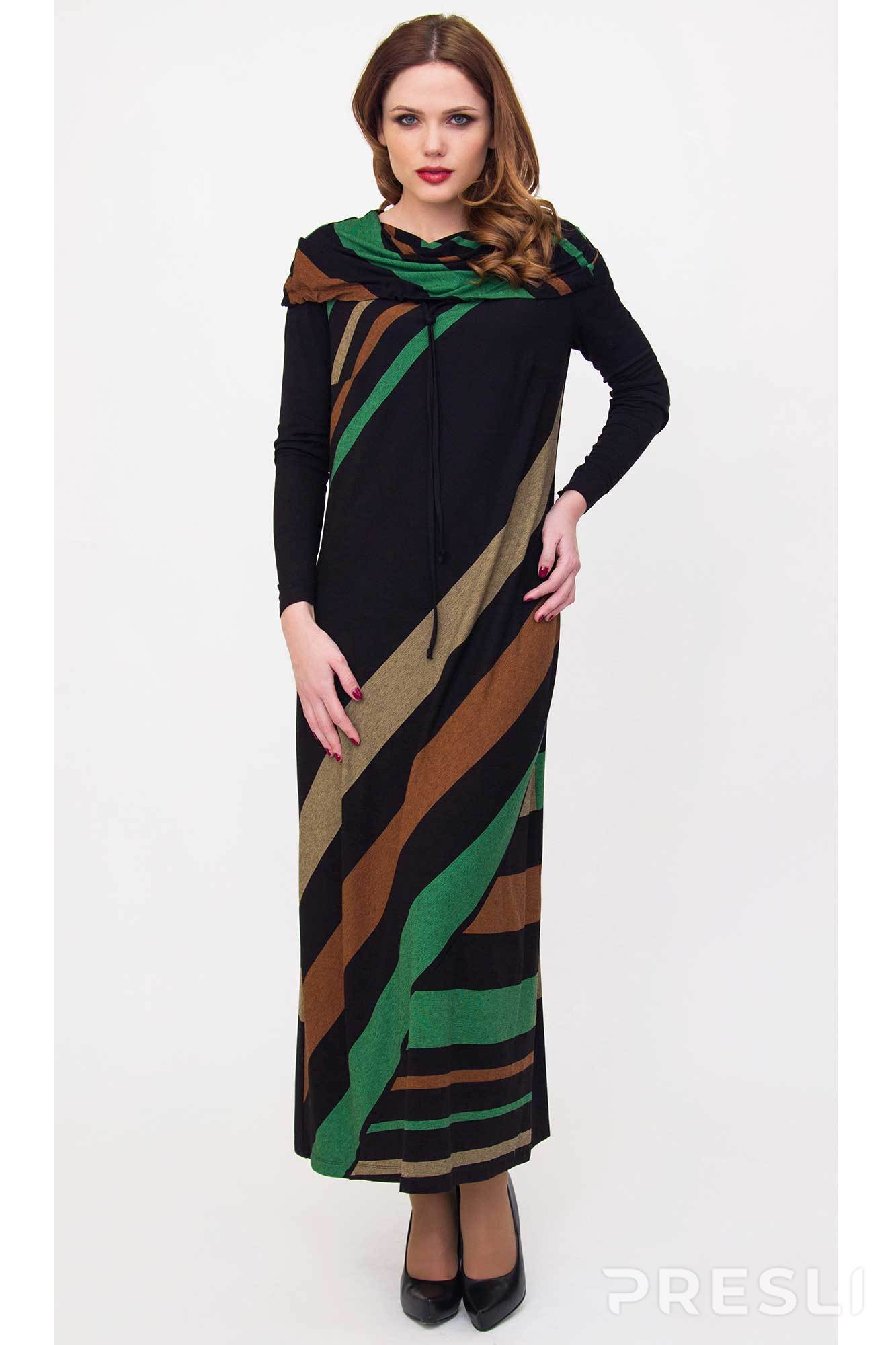 Платье Daloria 1180 черно-коричневый