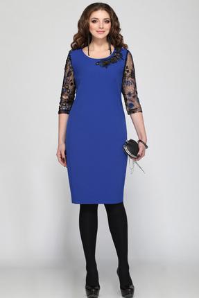 Платье Matini 31036 синие тона, Платья, 31036, синие тона, пэ 95%, эластан 5%, Мультисезон  - купить со скидкой