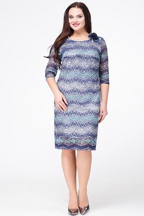 Купить со скидкой Платье Avanti Erika 584 синие  тона