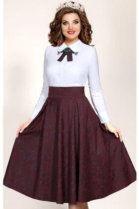 Купить со скидкой Комплект юбочный Vittoria Queen 5283/1 белый с бордо