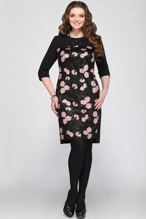 Купить Платье Matini 31021 черные тона, Платья, 31021, черные тона, ПЭ 95%, эластан 5%, Мультисезон