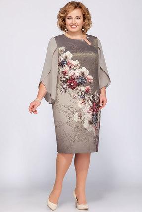 Купить Платье LaKona 1090 олива , Платья, 1090, олива , ПЭ 95%+Спандекс 5%, Мультисезон