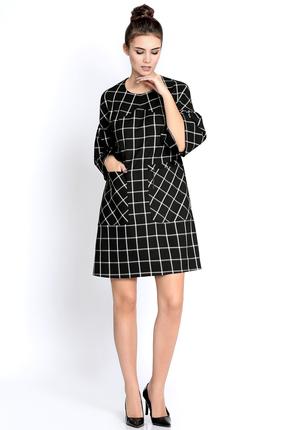 Купить Платье PIRS 262 черный, Платья, 262, черный, 55% полиэстр 35% вискоза 10% спандекс, Мультисезон