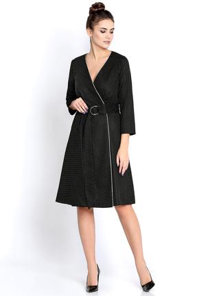 Купить Платье PIRS 263 черный, Платья, 263, черный, 55% полиэстр 35% вискоза 10% спандекс, Мультисезон