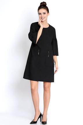 Купить Платье PIRS 268 черный, Платья, 268, черный, 49% хлопок 48% нейлон 3 % спандекс, Мультисезон