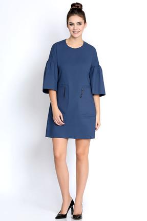 Платье PIRS 268 синий, Платья, 268, синий, 49% хлопок 48% нейлон 3 % спандекс, Мультисезон  - купить со скидкой