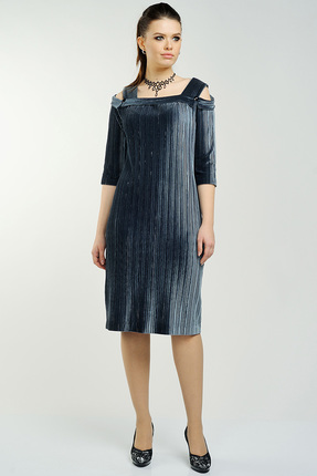 Купить Платье Danaida 1334 серый, Вечерние платья, 1334, серый, полиэстер 95%, эластан 5%, Мультисезон