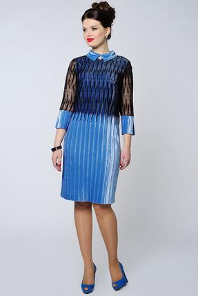 Купить Платье Danaida 1333 синий, Вечерние платья, 1333, синий, полиэстер 95%, эластан 5%, Мультисезон