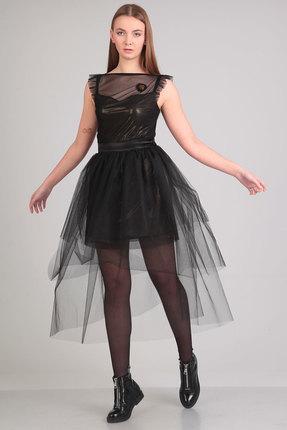 Комплект плательный Denissa Fashion 1122 черный, Плательные, 1122, черный, 96% пэ, 4% спандекс, Мультисезон  - купить со скидкой