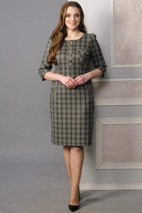 Купить Платье Lady Style Classic 432 серая клетка , Платья, 432, серая клетка , ПЭ 63%+Вискоза 35%+ПУ 2%, Мультисезон