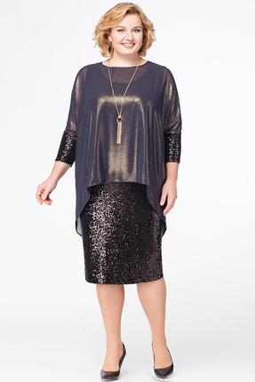 Фото - Платье Erika Style 577 черный с золотом цвет черный с золотом