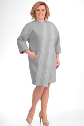Купить со скидкой Пальто Диамант 1150 серый
