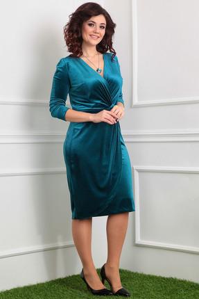 Фото - Платье Мода-Юрс 2320 зеленые тона цвет зеленые тона