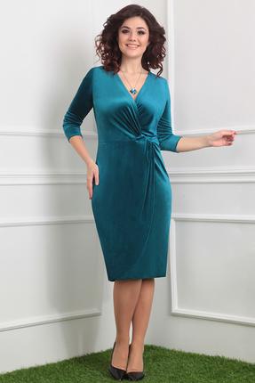 Фото 2 - Платье Мода-Юрс 2320 зеленые тона цвет зеленые тона