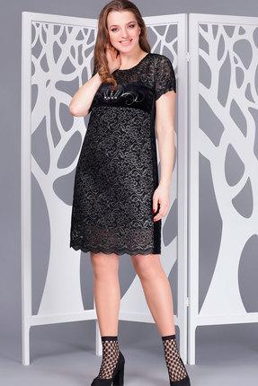 Купить Платье ТАиЕР 676 чёрный, Платья, 676, чёрный, ПЭ 95%, Ликра 5%, Мультисезон