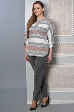 Купить со скидкой Комплект брючный Lady Style Classic 1392 серые тона