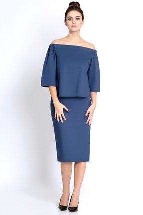 Купить Комплект юбочный PIRS 278 синий, Юбочные, 278, синий, 49% хлопок 48% нейлон 3 % спандекс, Мультисезон