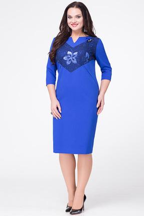 Купить Платье Erika Style 596 василек, Платья, 596, василек, вискоза 72%, ПЭ 25%, спандекс 3%, Мультисезон