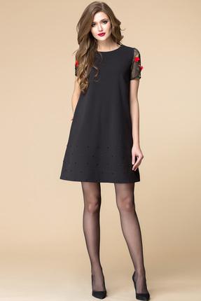 Купить Платье Romanovich style 1-1587 черный, Платья, 1-1587, черный, Трикотаж (95% ПЭ, 5% спандекс), Мультисезон