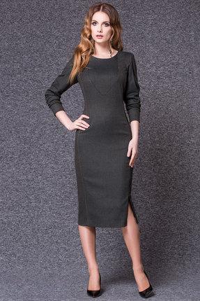 Купить Платье Noche Mio 1.191 серый, Платья, 1.191, серый, ПЭ 66%+Вискоза 32%+Эластан 2%, Мультисезон