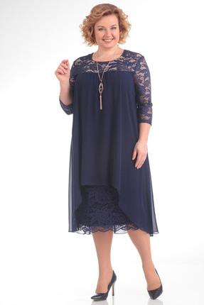 Купить Платье Pretty 642 синий, Платья, 642, синий, 96% полиэстр 4% спандекс, 100% полиэстр, Мультисезон