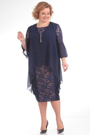 Купить Платье Pretty 643 синий, Платья, 643, синий, 96% полиэстр 4% спандекс, 100% полиэстр, Мультисезон