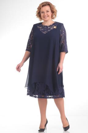 Купить Платье Pretty 646 темно синий, Платья, 646, темно синий, 96% полиэстр 4% спандекс, 100% полиэстр, Мультисезон