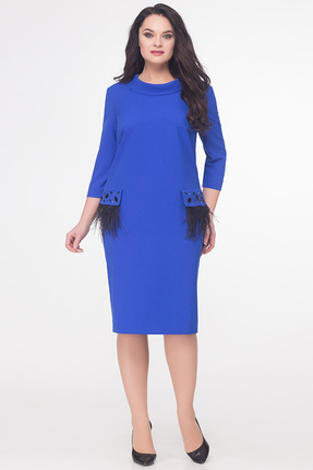 Купить Платье Erika Style 595 василек, Платья, 595, василек, вискоза 72%, ПЭ 25%, спандекс 3%, Мультисезон