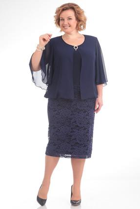Купить Платье Pretty 651 темно синий, Платья, 651, темно синий, 6% полиэстр 4% спандекс, 100% полиэстр, Мультисезон