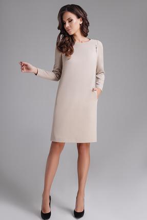 Купить Платье Teffi style 1273 капучино, Платья, 1273, капучино, 66%ПЭ, 29% вискоза, 5% спандекс, Мультисезон