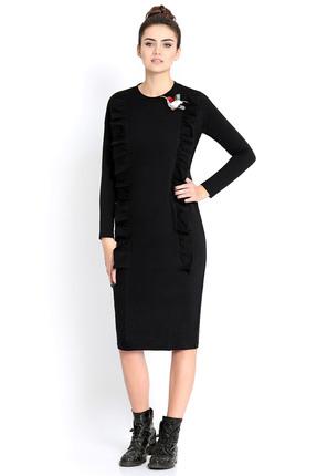 Купить Платье PIRS 299 черный, Платья, 299, черный, 49% хлопок 48% нейлон 3 % спандекс, Мультисезон
