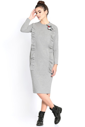 Купить Платье PIRS 299 серый, Платья, 299, серый, 49% хлопок 48% нейлон 3 % спандекс, Мультисезон