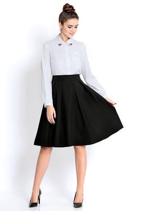 Комплект юбочный PIRS 306 черно белый, Юбочные, 306, черно белый, 96% хлопок 4% эластан, 80% полиэстер 20% вискоза, Мультисезон  - купить со скидкой