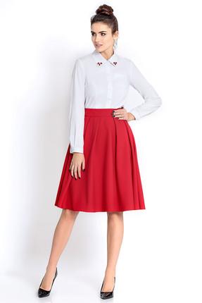 Купить Комплект юбочный PIRS 306 красно белый, Юбочные, 306, красно белый, 96% хлопок 4% эластан, 80% полиэстер 20% вискоза, Мультисезон