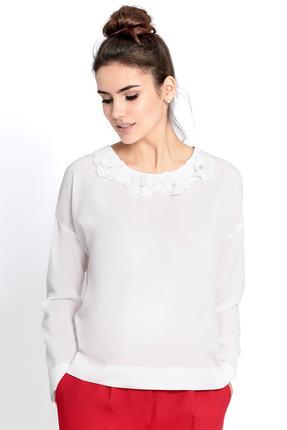 Купить Блузка PIRS 321 белый, Блузки, 321, белый, 96% полиэстер 4% спандекс, Мультисезон