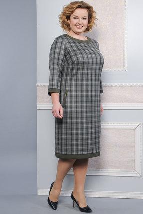 Купить со скидкой Платье Lady Style Classic 1427 серо-зеленые тона