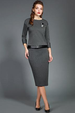 Купить Комплект юбочный Olga Style 442 серые тона, Юбочные, 442, серые тона, полиэстер 53%, вискоза 43%, спандекс 4%, Мультисезон