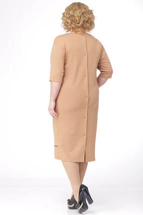 Фото 3 - Платье Michel Chic 693 бежевый бежевого цвета