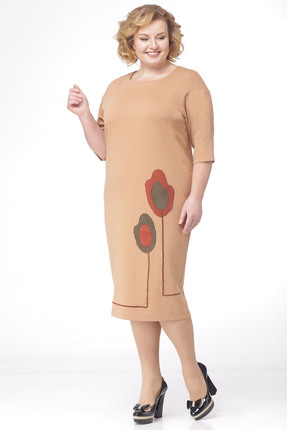 Фото 4 - Платье Michel Chic 693 бежевый бежевого цвета
