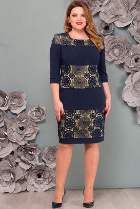 Купить Платье Nadin-N 1081.2 тёмно-синий, Платья, 1081.2, тёмно-синий, ПЭ 65%, Вискоза 30%, Спандекс 5%, Мультисезон