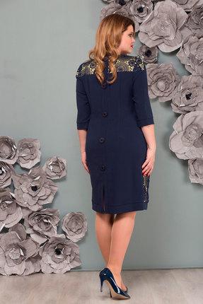 Фото 2 - Платье Nadin-N 1081.2 тёмно-синий тёмно-синего цвета