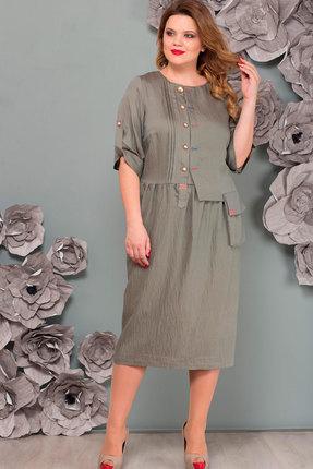 Купить Платье Nadin-N 1482.2 серо-зеленый, Платья, 1482.2, серо-зеленый, Костюмно-плательная, Мультисезон