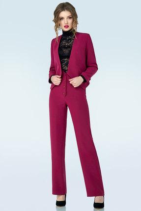 Фото #1: Комплект брючный Denissa Fashion 1127 спелая вишня