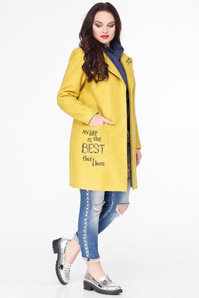 Купить со скидкой Пальто Erika Style 587-2 желтый