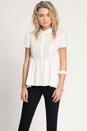 Купить Блузка Prio 170640 белый, Блузки, 170640, белый, 97% Хлопок; 3% Спандекс., Лето