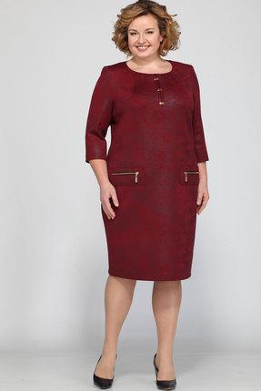 Купить Платье Bonna Image 326 бордовый, Платья, 326, бордовый, 62% ПЭ, 35% Вискоза, 3% Спандекс, Мультисезон