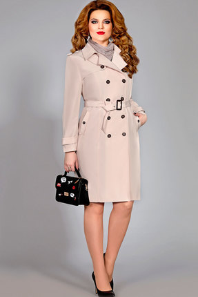 Плащ Mira Fashion 4391 бежевый