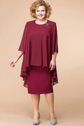 Купить Платье Romanovich style 1-1554 бордо, Платья, 1-1554, бордо, 97% ПЭ, 3% спандекс, Мультисезон