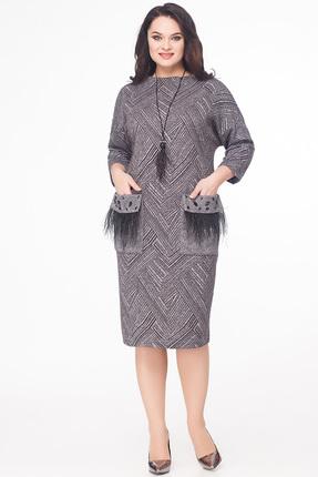 Купить Платье Erika Style 586 серые тона, Повседневные платья, 586, серые тона, вискоза 72%, ПЭ 25%, спандекс 3%, Мультисезон
