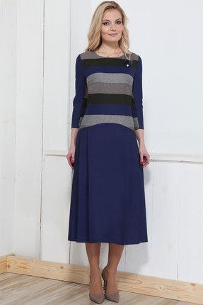 Купить Платье Bonna Image 308 синий, Платья, 308, синий, 62% ПЭ, 33% Вискоза, 5% Спандекс, Мультисезон